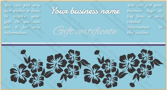 fancy gift certificate template