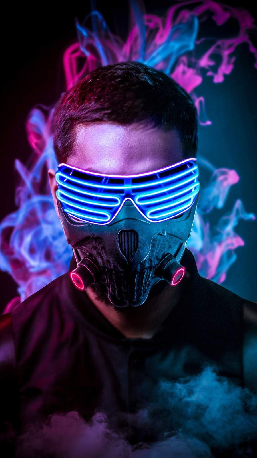 Neon Face Mask iPhone Wallpaper (With images) Neon