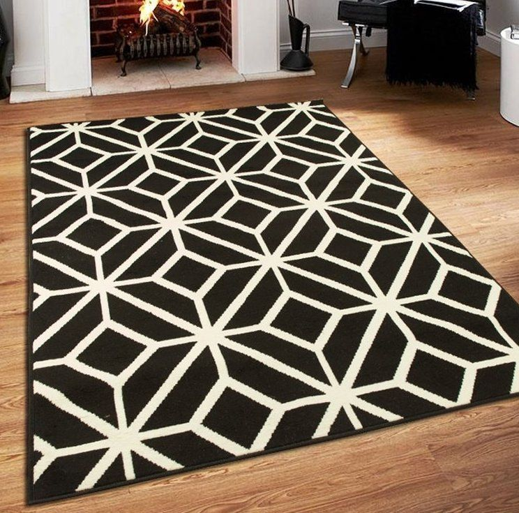 Millville Polypropylene Black White Area Rug Home In 2019
