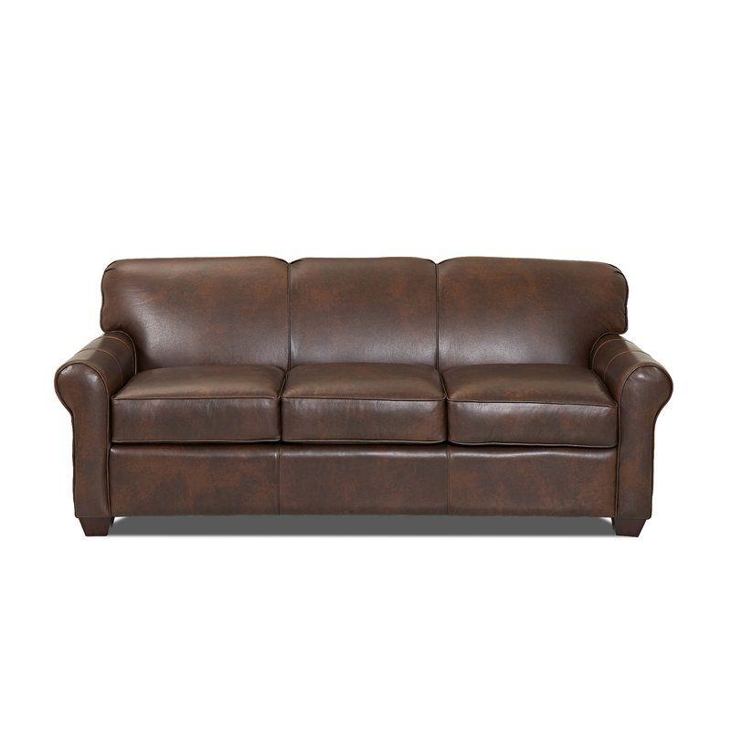 Wayfair Custom Upholstery Jennifer Leather Sofa Bed Reviews Wayfair Genuine Leather Sofa Leather Sofa Bed Leather Sleeper Sofa