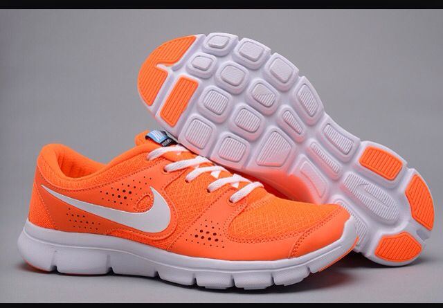 neon orange and white nike shoes | *All kinds of clothes