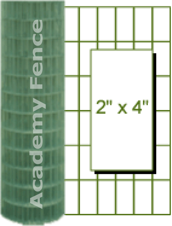 2in X 4in Mesh Green Pvc Welded Wire Welded Wire Fence Wire Fence Wood Shop