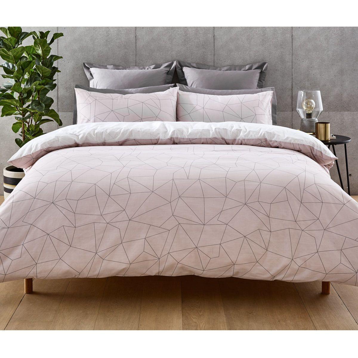 Cassius Quilt Cover Set Queen Bed Kmart Pink Bedroom Decor Queen Bedding Sets Quilt Cover Sets