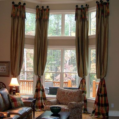 Custom Drapes and Valances | custom 2-story drapes/curtains-two ...