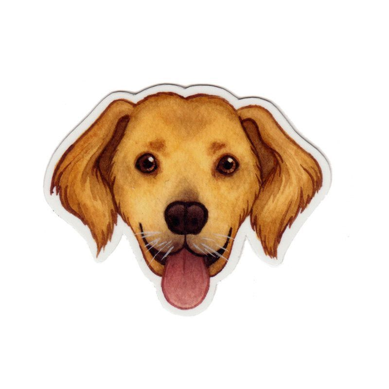 This Magnet Is A Print Of My Original Golden Retriever Dog