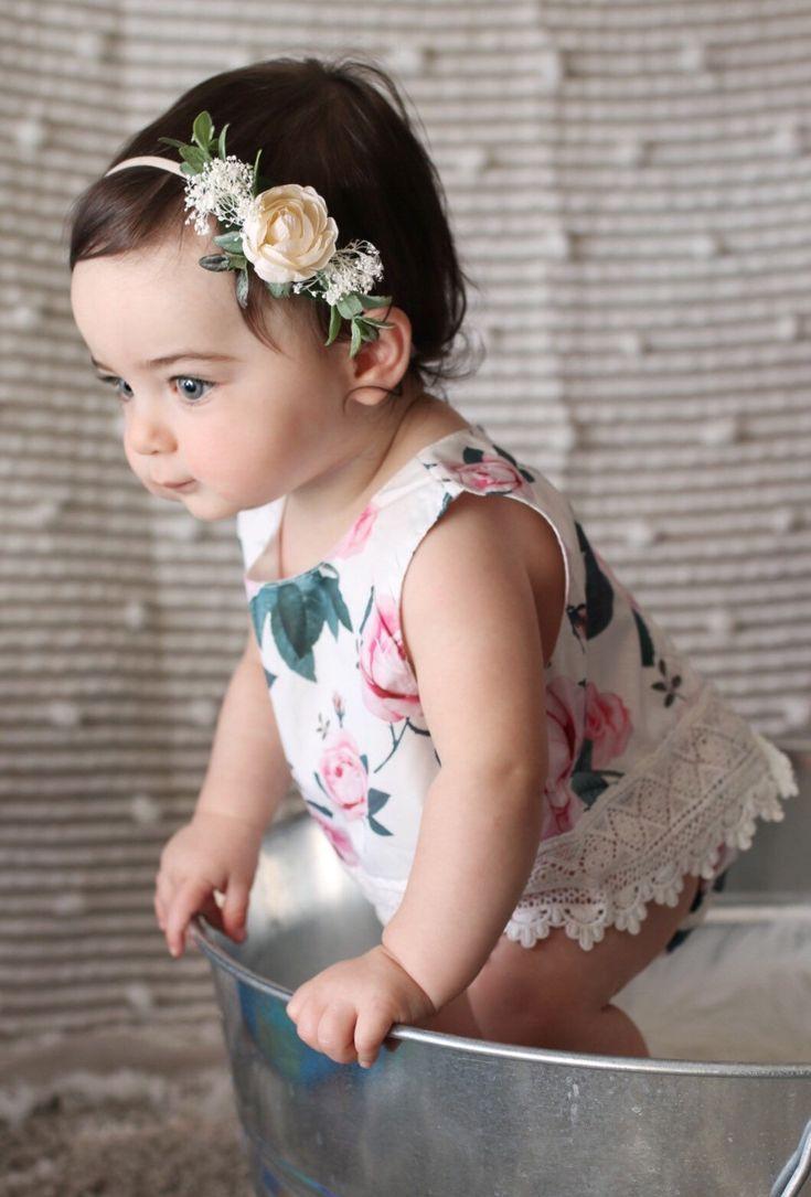 Ivory Baby Flower Crown Headband