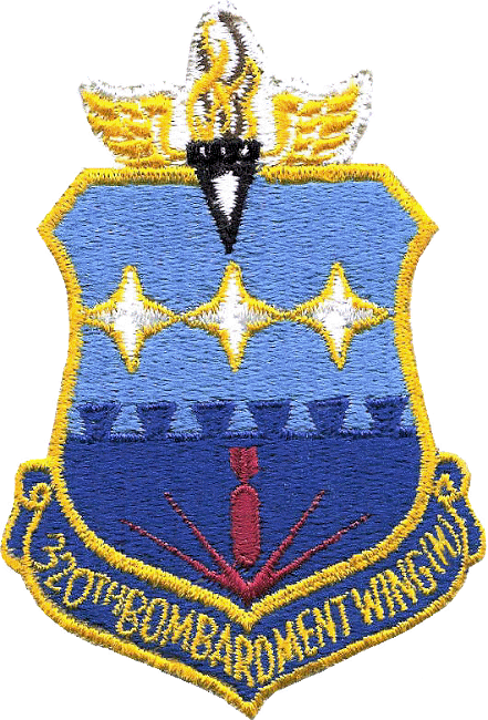 STICKER USAF 320th BONBARDMENT WING