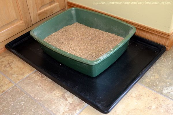 Keep The Litter In Box Area With A Crate Tray To Contain Mess Homemaking Tips And Tricks Clutter Under Control Make Things