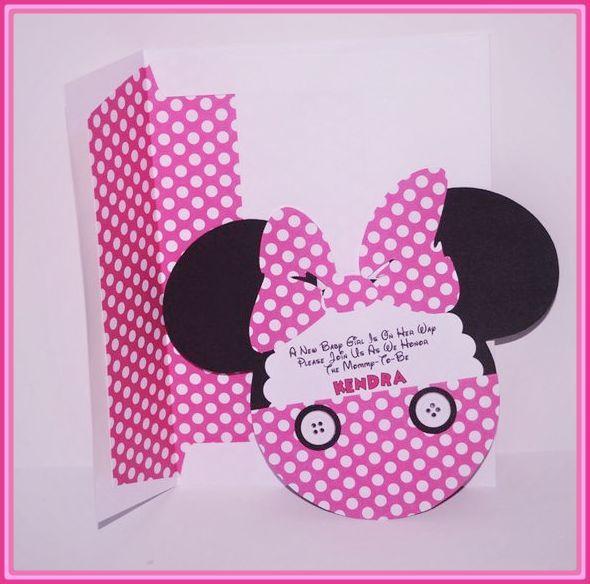 Invitaciones De Baby Shower De Minnie Mouse Baby Piñata Un