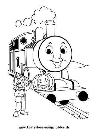 Ausmalbild Thomas Die Lokomotive Coloring For Kids Thomas And Friends Pumpkin Coloring Pages