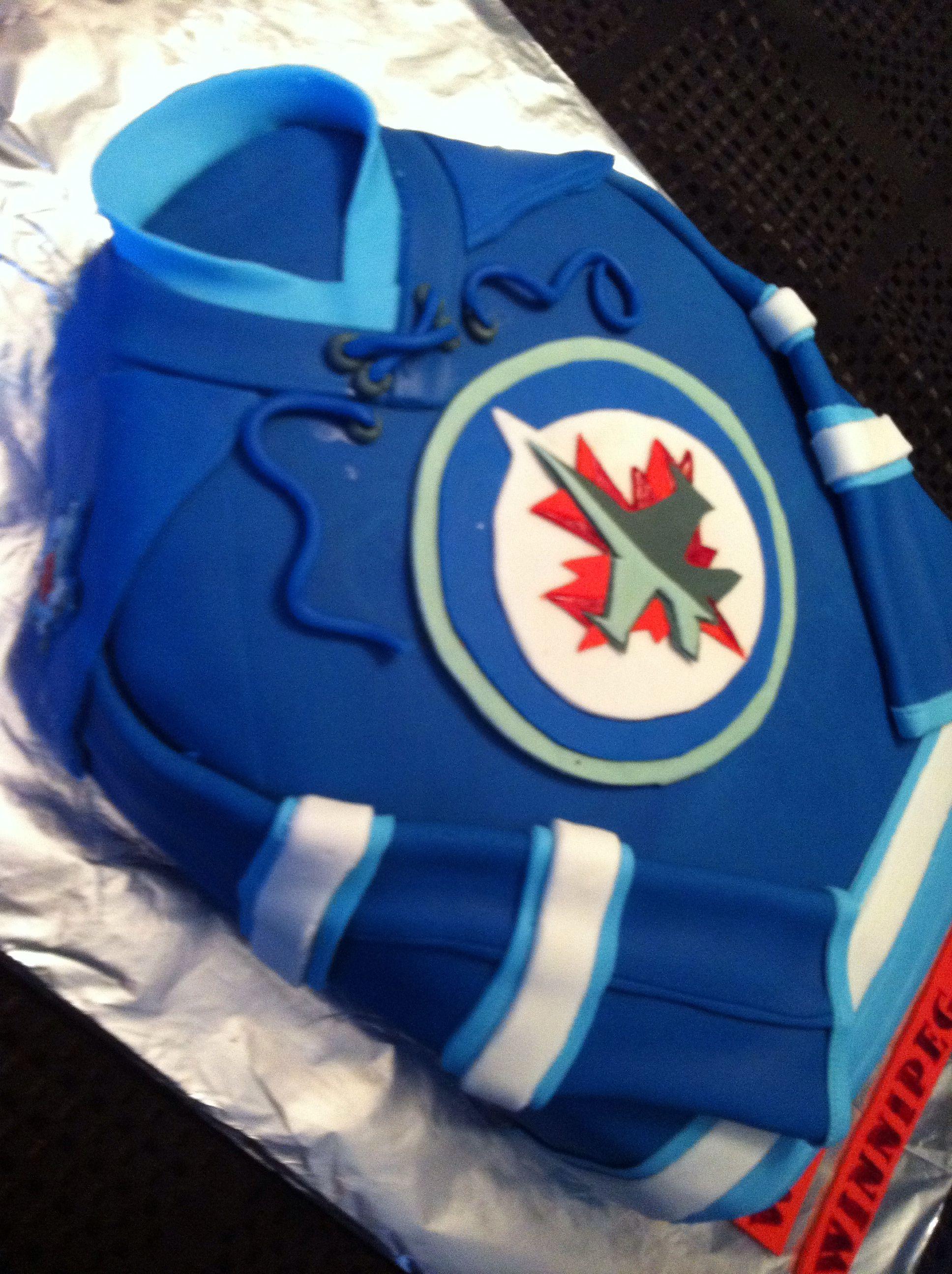 Winnipeg Jets Jersey cake
