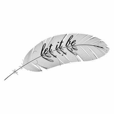 Delicate feather tattoo for shoulders or inside of arms can be personalized with any short phrase or name or inspirational words!