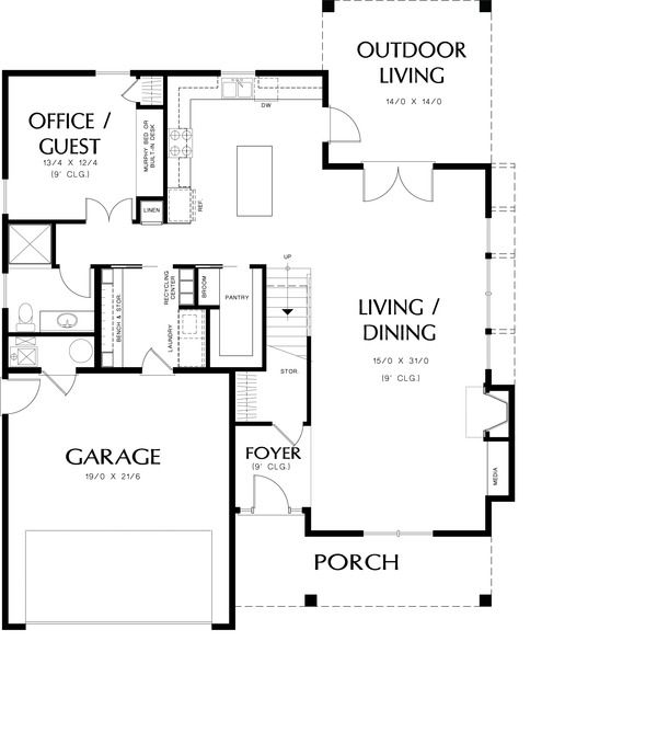 Country Style House Plan 4 Beds 3 00 Baths 2315 Sq Ft Plan 48 638 Floor Plan Main Floor Plan Houseplan Country Style House Plans House Plans Floor Plans