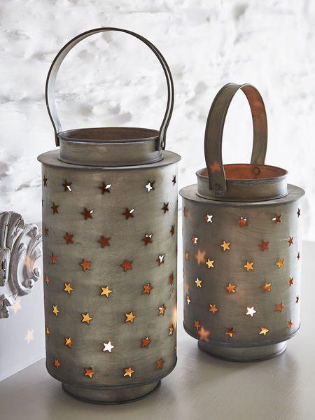 zinc star lantern - nordic house