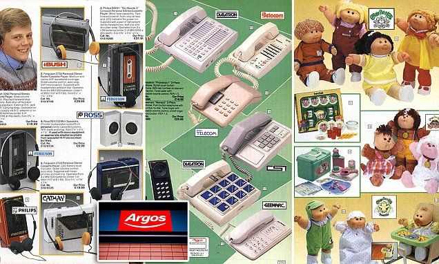 The way we used to shop: Forget Black Friday, Argos Christmas catalogues dating back to 1973 reveal how we used to spend our cash on Cabbage Patch Dolls and personal cassette players.