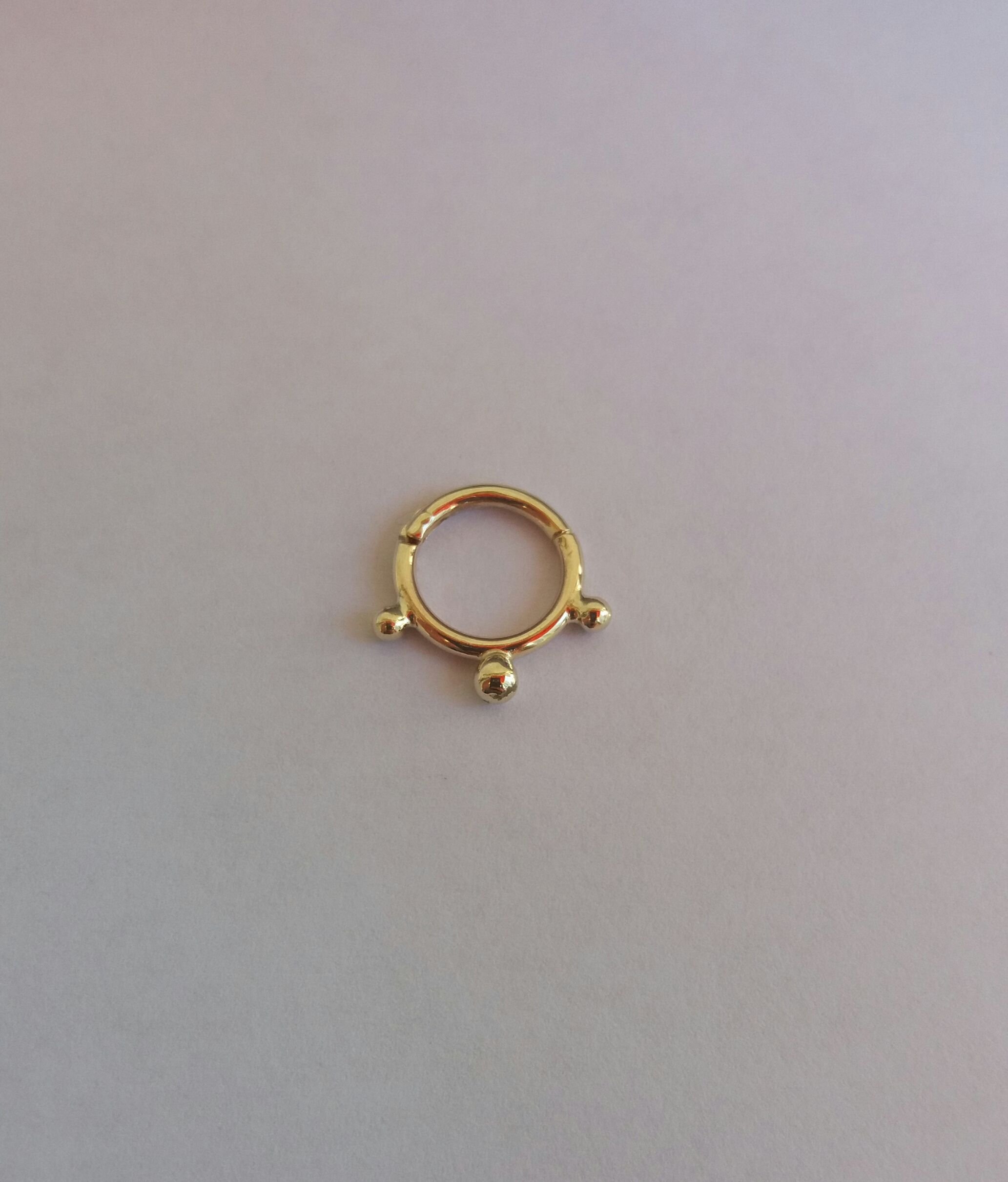 Gold nose piercing  septum jewelry  piercing clicker  septum ring nose ring  Nose