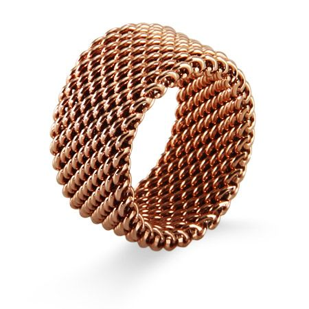 Designer Style Rose Gold Mesh Ring Rings Pinterest Tiffany