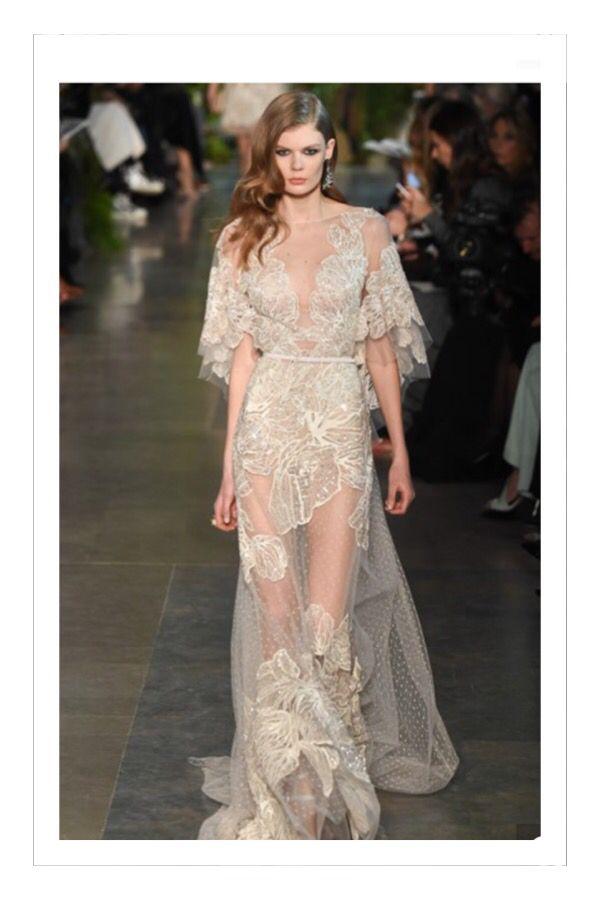 So #gorgeous at the #elliesaab #couture #catwalk 2015 #stunning #dresses with #beautiful #detailing #elliesaabcatwalk #fashionshow #weddingcouture #model #weddingdress #glamourousdress #glam #chic #elegant #styleblogger #fashionblog #flog #fblogger #pearlsandvagabonds #style #stylist