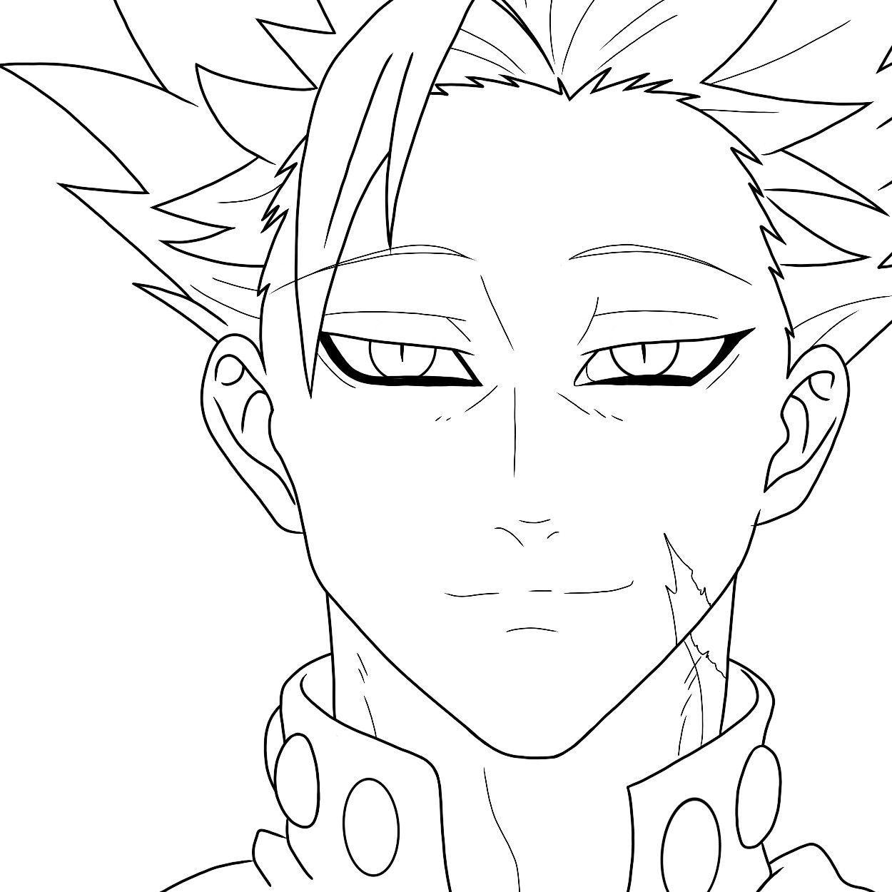 Nanatsu no taizai como desenhar ban!