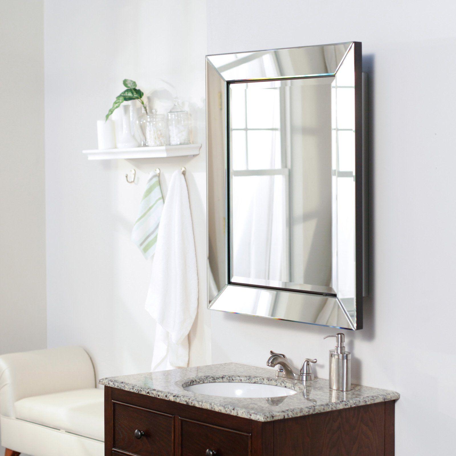 Single Door Radiance Surface Mount Contemporary Medicine Cabinet 1103 Hayneedle