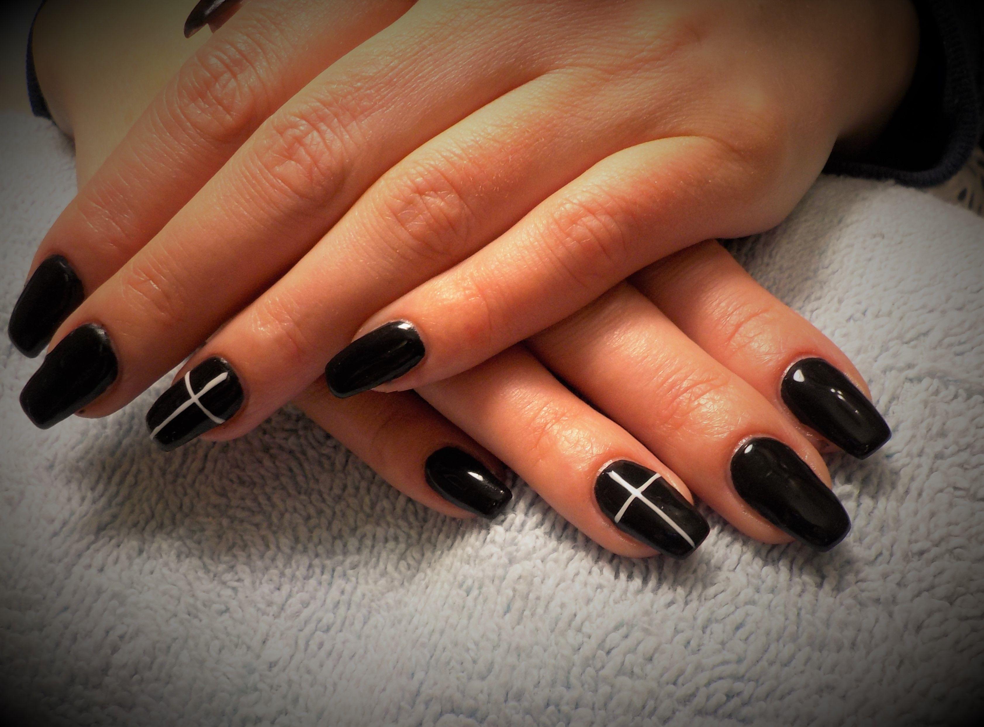 Halloween Coffin Shape Gel Nails Nail Art Nails Gel Nails