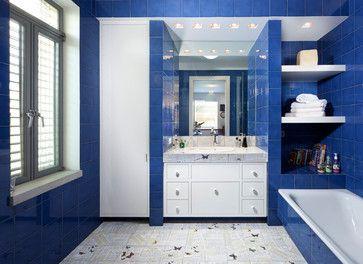 Royal Blue Design Ideas Blue Bathroom Walls Blue Bathroom Tile Brown Bathroom Decor