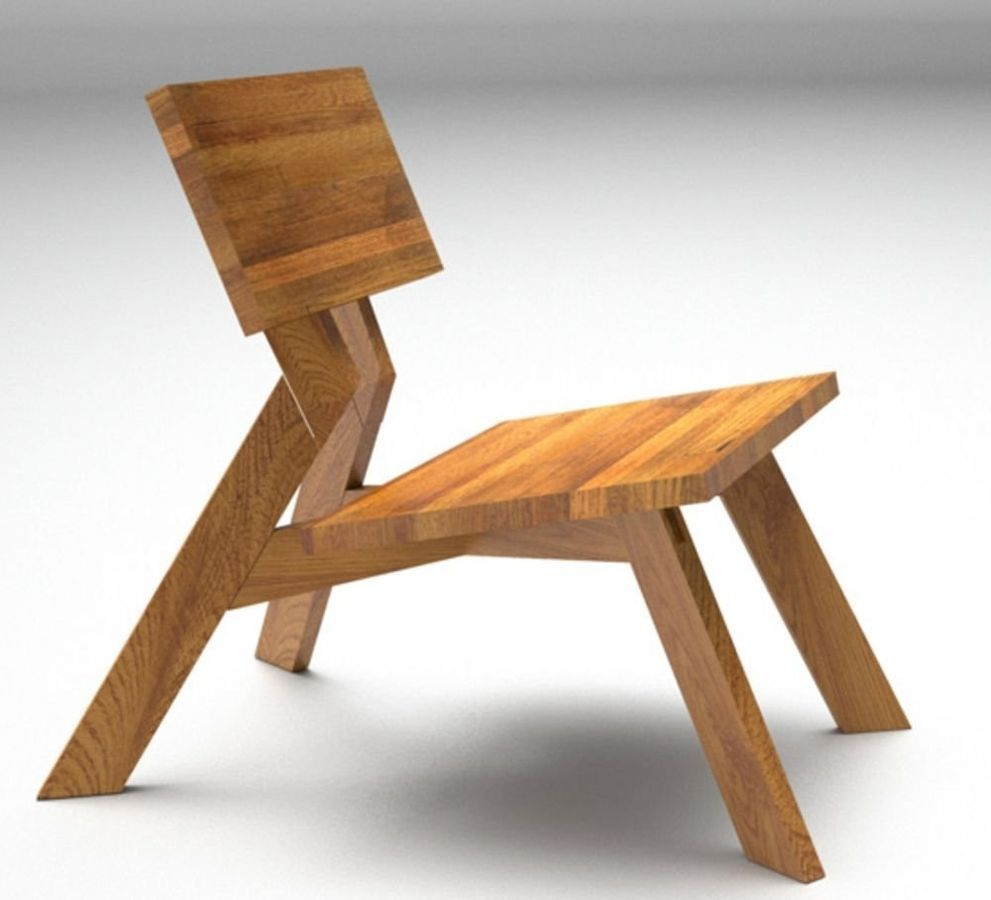 contemporary wood fireside chair FUNDAMENT LOUNGE Acronym Designs