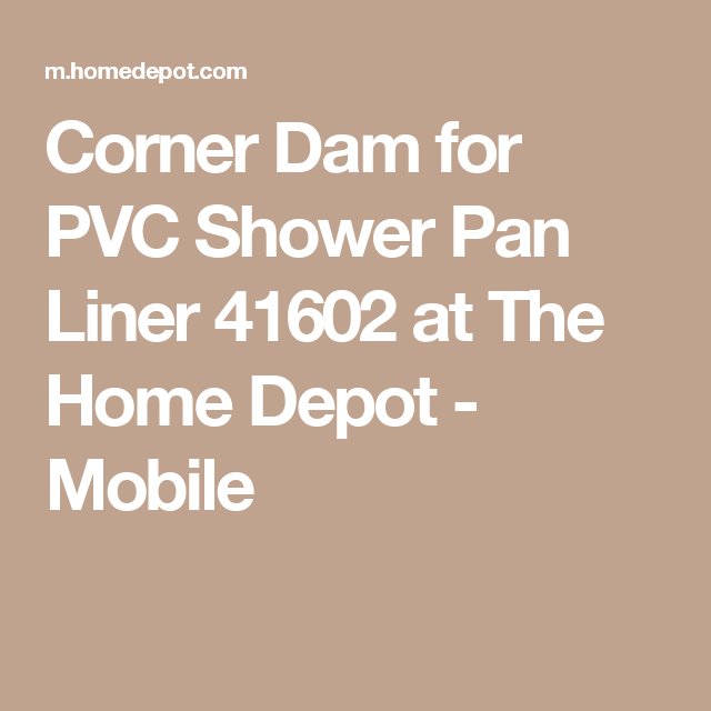 Oatey Corner Dam For Pvc Shower Pan Liner 41602 With Images