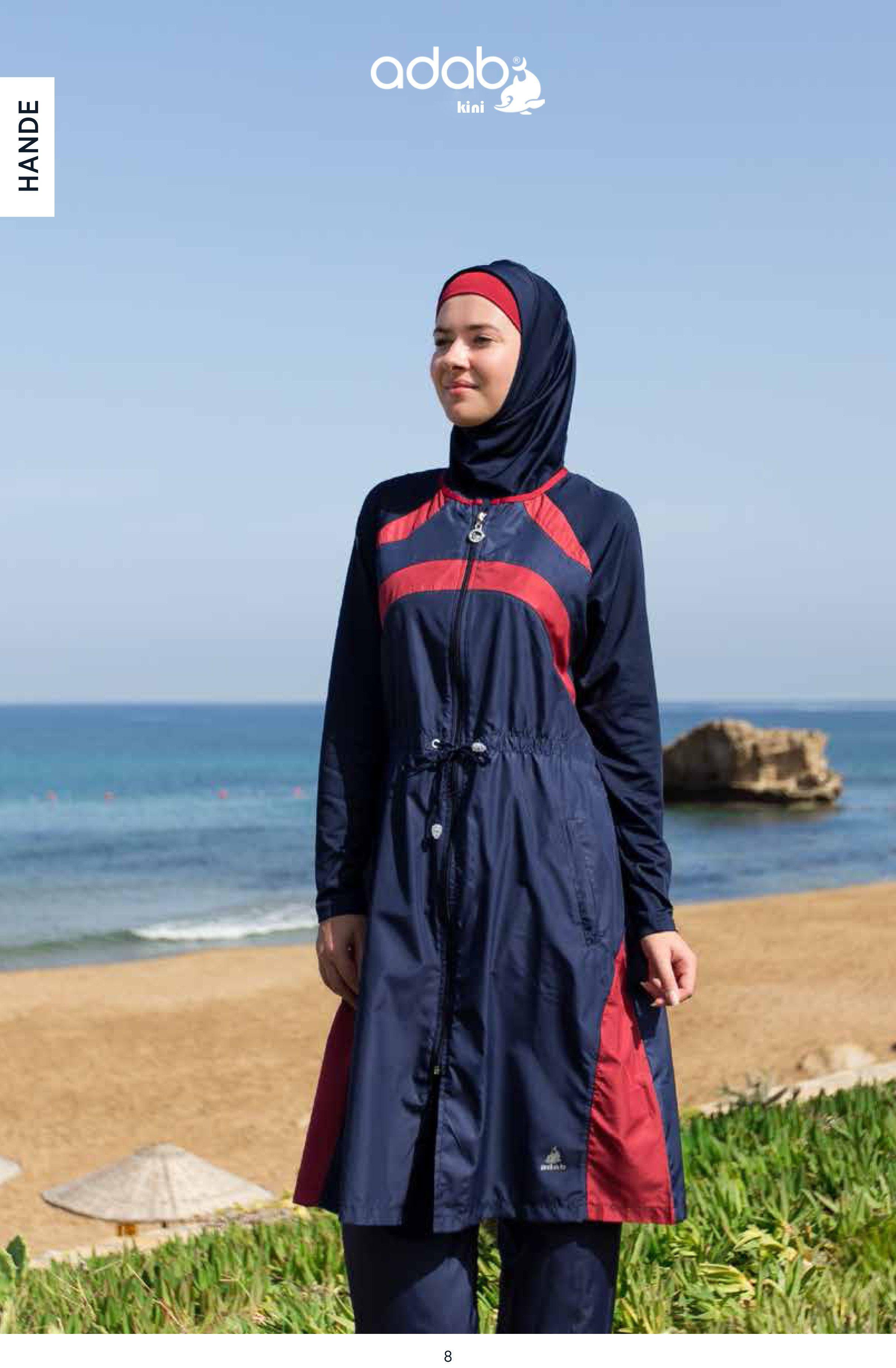 af8c2b8db39d1 Adabkini HANDE Women's Swimsuit Full Cover Hijab Burkini Islamic, Hindu,  Arab, Jewish Swimwear