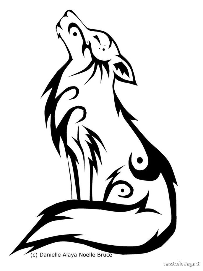 Howling Wolf Coloring Pages Coloring Pages Printable Tribal