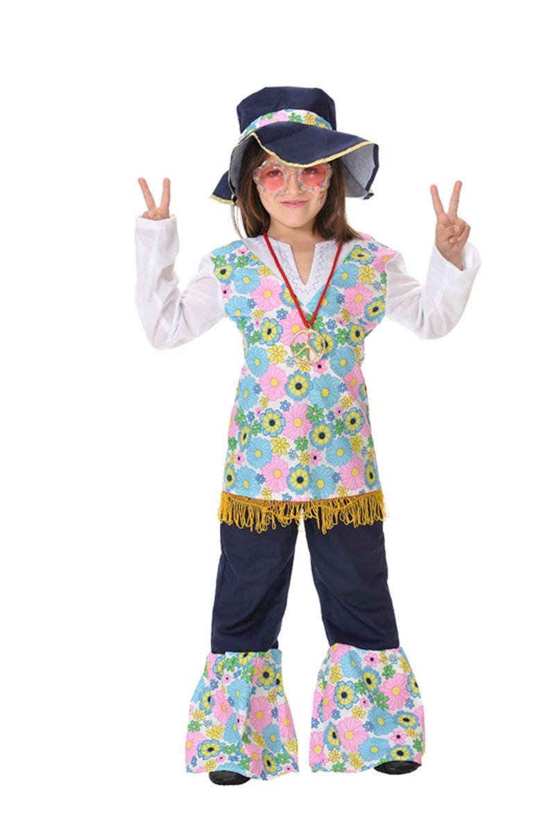 Disfracesmimo disfraz de hippie flores ni a varias tallas for Disfraz de hippie