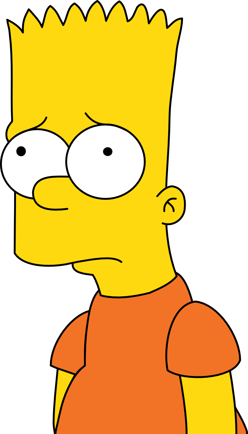 Bart Disappointed Simpsons Drawings Simpsons Art Bart Simpson Drawing