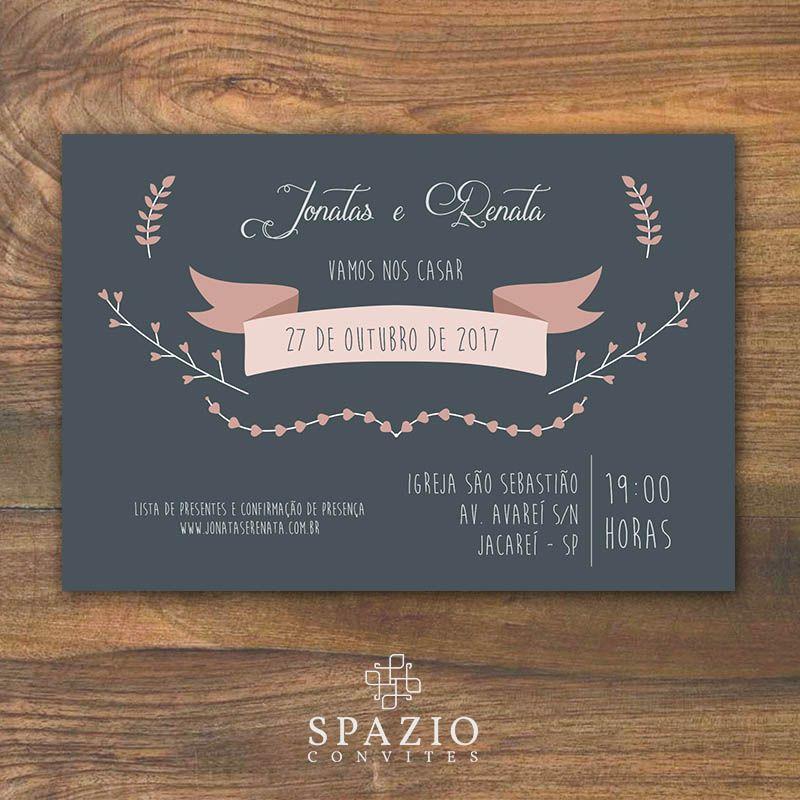 Convite De Casamento Aquarela Download Gratis Editavel