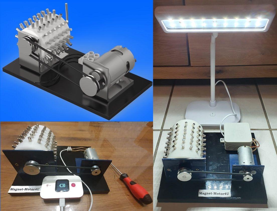 Bauanleitung magnet strom generator Inverter stromerzeuger: