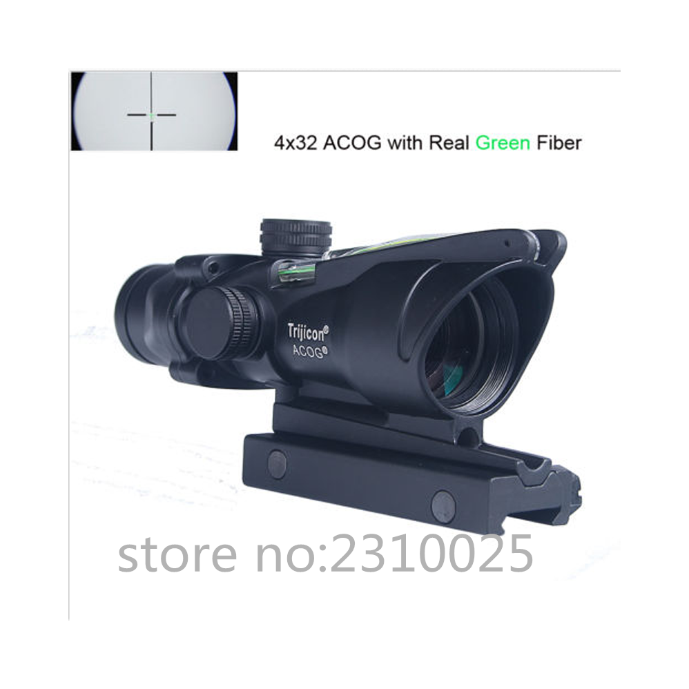 Illumination ACOG Style 1x32 Red//Green Dot Sight Scope For Airsoft Hunt Outdoor