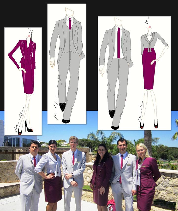 F tima lopes designs for conrad algarve hotel uniform for Hotel design jersey