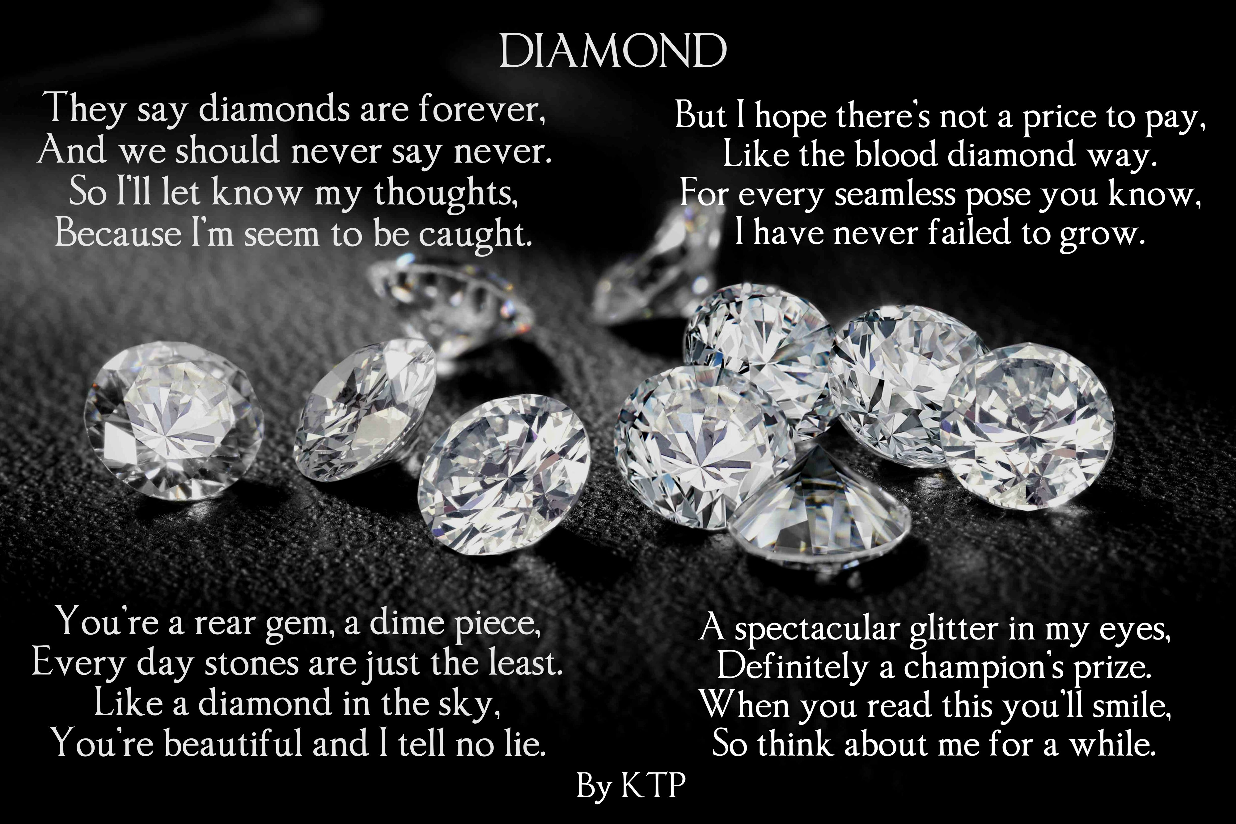 Ktp Diamond Love Romance Lovepoem Poetry Poems Diamond