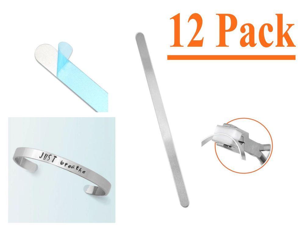24 Pack 3//8 x 7 Aluminum ImpressArt Bracelet Blanks