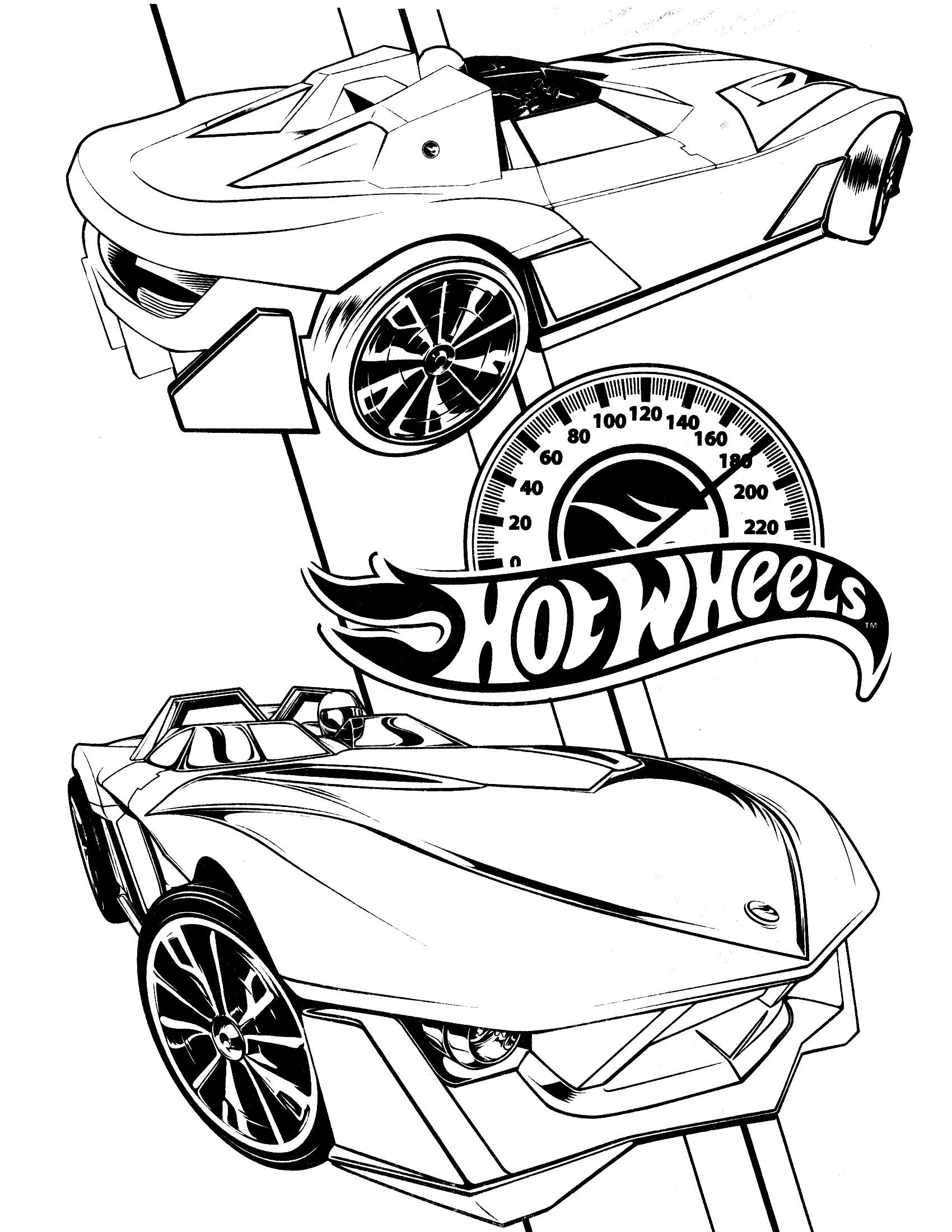 Online coloring hot wheels - Hot Wheels Coloring Page