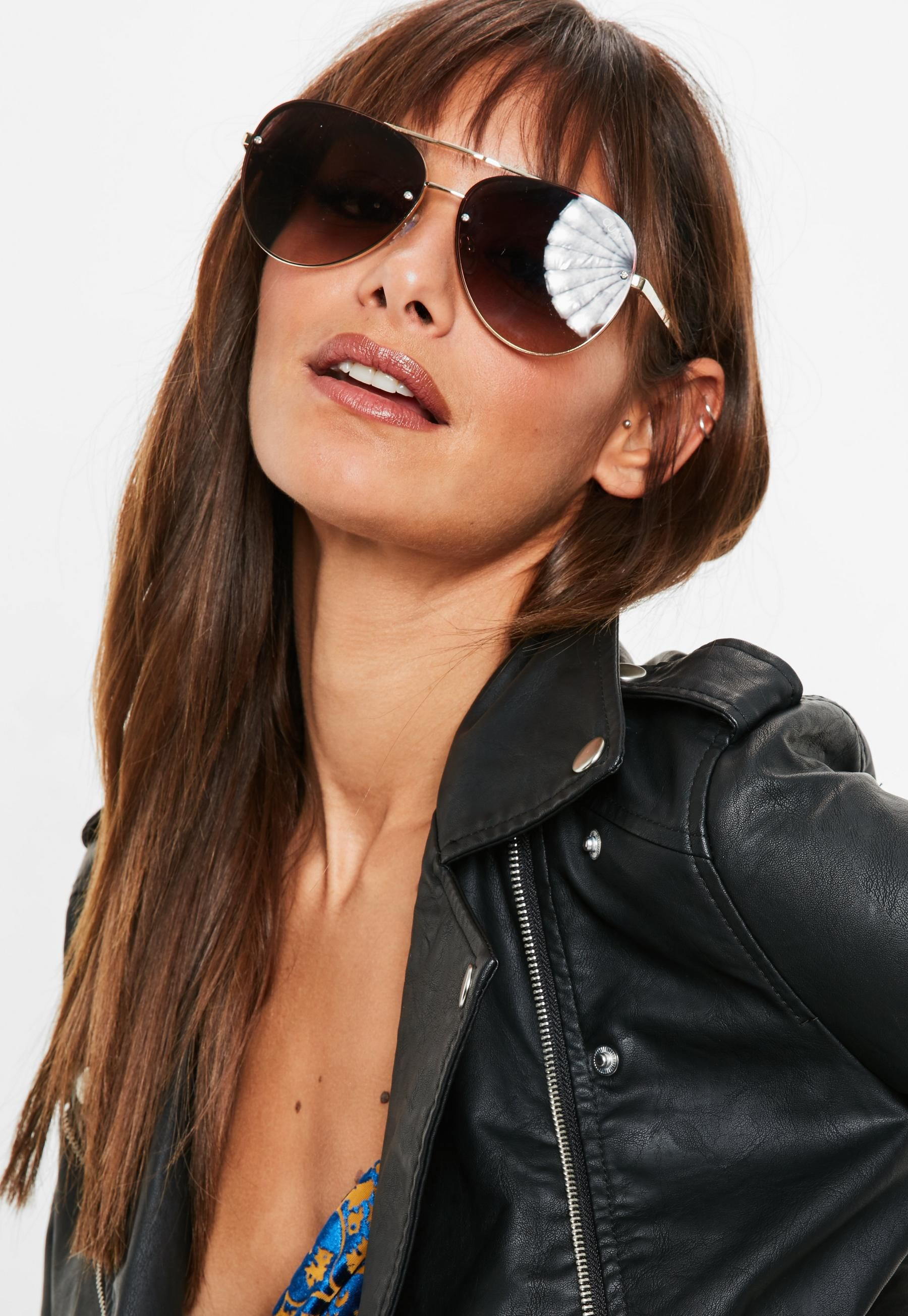 e1749bf576 Quay Australia x Missguided Gold Smoke Fade Cool Innit Sunglasses ...
