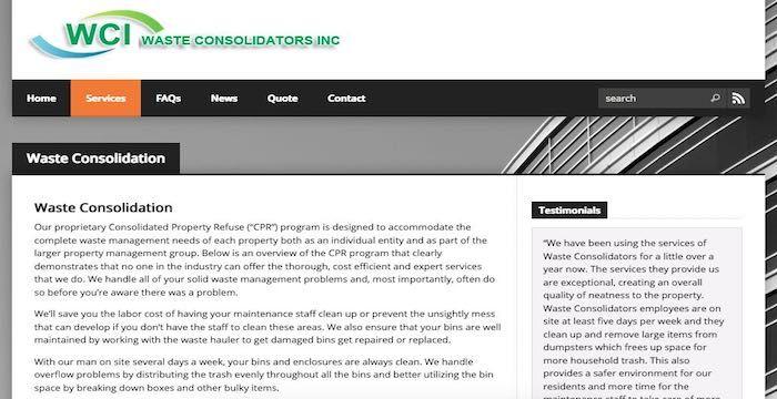 Waste Consolidators Bill Pay Online Login Customer Service