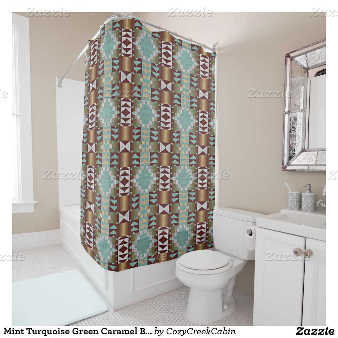 A large collection of rustic decor shower curtains. With motifs such ...