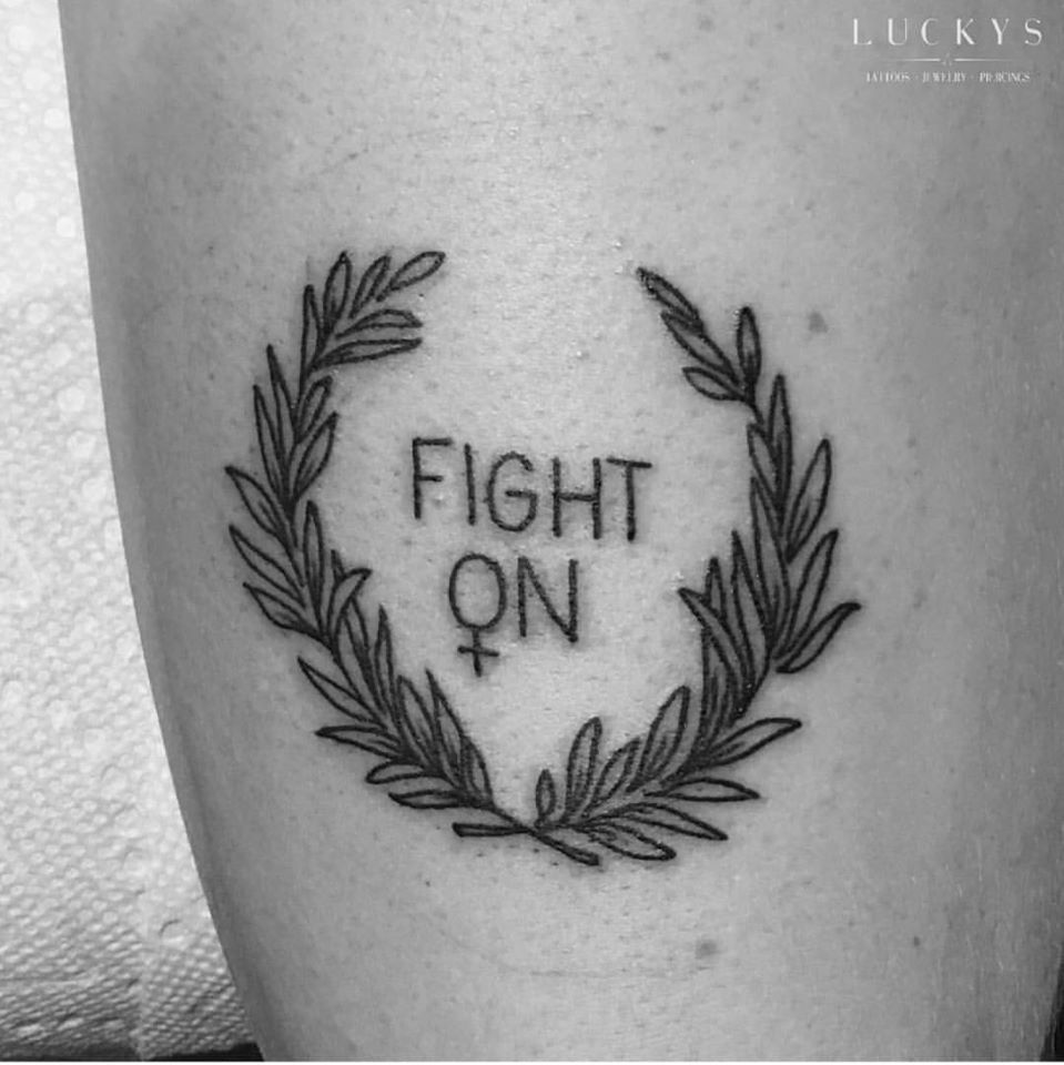 Small color tattoo ideas  amazing badass feminist tattoos that remind you of the girl power