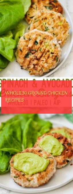 whole30 ground chicken recipes