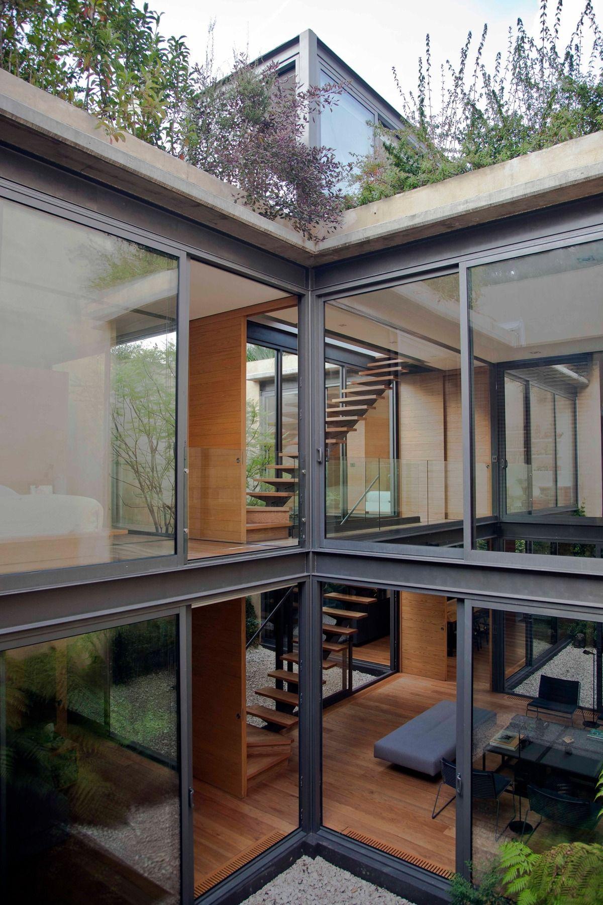 Maison innovante avec 4 jardins modernes en 2018 | Archi maison ...