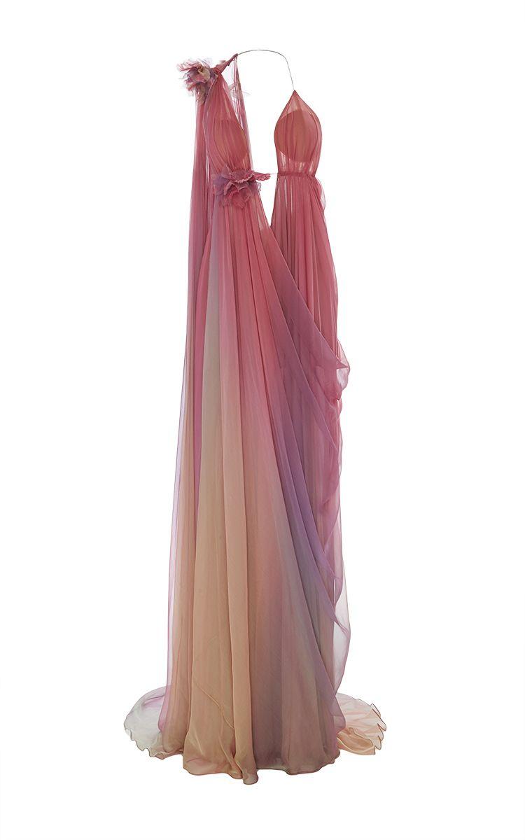 Ombré Grecian Gown by MARCHESA for Preorder on Moda Operandi ...