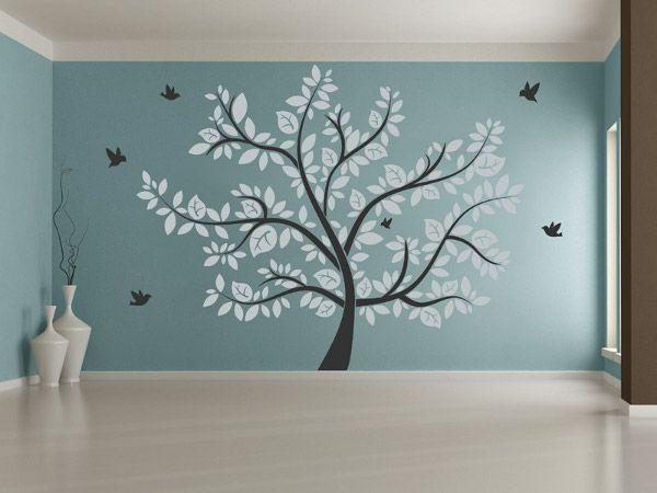 Wandsticker wohnzimmer ~ Wandtattoo wohnzimmer grun besten bäume bilder auf