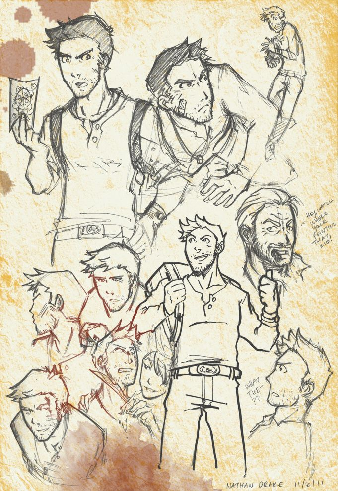Nathan Drake Uncharted Uncharted Game Sketches