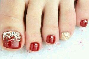 red and gold toe nails health and beauty hair make up nails