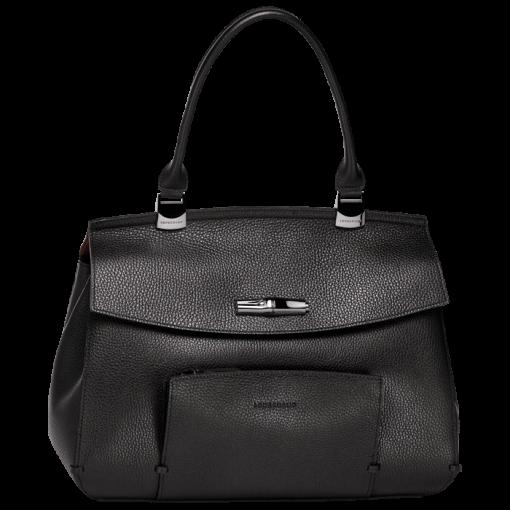 Longchamp Paris Mademoiselle Top-Handle, Handbags, Black (Ref ...